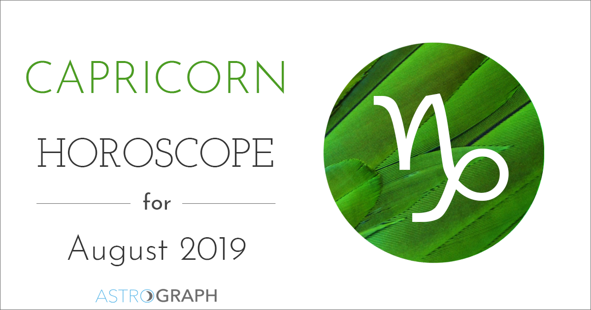 Capricorn Horoscope for August 2019