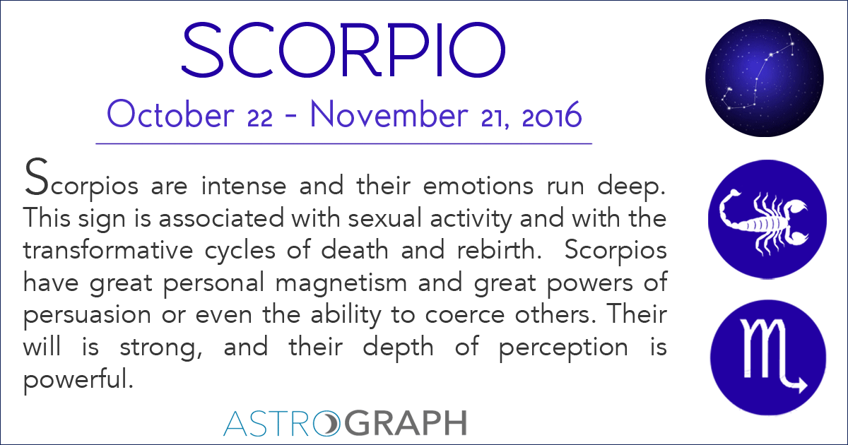 ASTROGRAPH - Happy Scorpio Season!